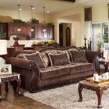 traditional fabric sofas. Modren Traditional Shop Furniture Of America Renold Traditional Brown Printed Chenille Fabric  Sofa  Free Shipping Today Overstockcom 14415785 Throughout Sofas O