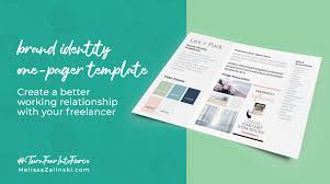 Brand Identity One Pager Template