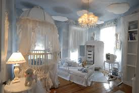 Baby Room:Lovely Soft Baby Nursery Ideas With Blue Color Schemes Also  Antique Hanging Lamp