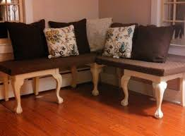 furniture repurpose. repurposed some old formal dining room chairs into a corner bench by cutting the furniture repurpose