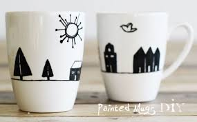 Painted mugs.