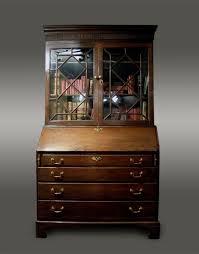 antique welsh oak bureau bookcase