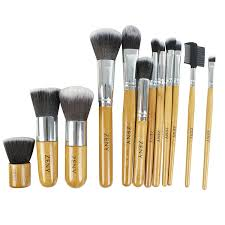 get ations zeny 11 1 piece makeup brush set 12 pcs professional bamboo handle foundation