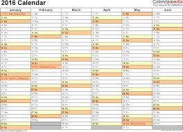 Excel Calendar Template 2013 2016 Calendar 16 Free Printable Word Templates Tem Mychjp