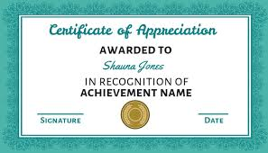100 Certificate Of Appreciation Templates To Choose From