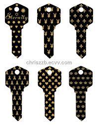 black house key. Black Anodized And Laser Engraved KW1 House Keys Key K