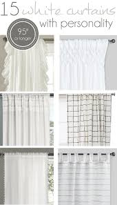 15 long white curtains with personality