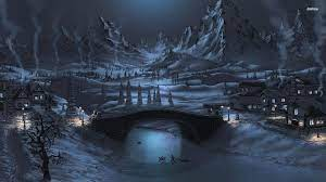 1920X1080 HD Night Winter Wallpapers ...