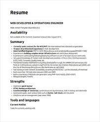 Modern Programmer Resume Web Developer Resumes 9 Free Word Pdf Format Download Free