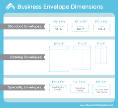 Business Envelope Dimensions 10 Common Envelope Sizes Used