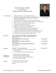 Resume Of A Real Estate Agent Resume Cover Letter Template