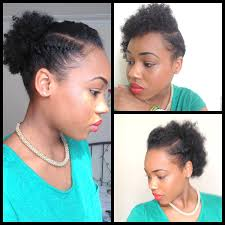 Easy Hairstyles On The Go 32 3 Quick Easy Style For Short Natural Hair Wash And Go 5th
