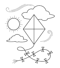 Small Picture Kite Coloring Page Free Download