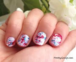 Paint Splash Nail Design Patriotic Splatter Paint Nails Fun Family Crafts