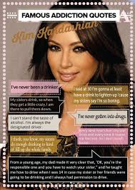 Kardashian Quotes Best Kim Kardashian Quotes About Drugs And Alcohol INFOGRAPHIC