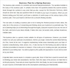 Startup Business Plan Sample 13 Startup Business Plan Templates To Foster Your Company