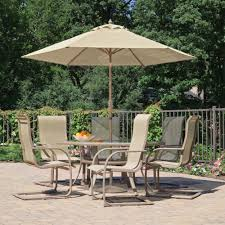 patio table umbrella dining