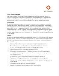 Sample Of Cover Letter For Human Resource Position Shishita