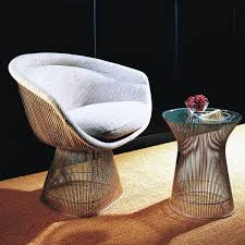 platner furniture. Knoll - Platner Side Table Nickel Polished / Crystal Glass Furniture
