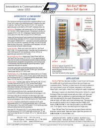 tektone nc110n (nc 110n) ul nurse call annunciator control panel Wiring Diagram For Nurse Call System click for spec sheet wiring diagram for nurse call systems