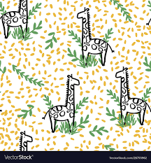 Repeats In Textile Designing Giraffe Safari Seamless Repeat Pattern Design