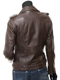 dauphin womens brown leather motorcycle jacket