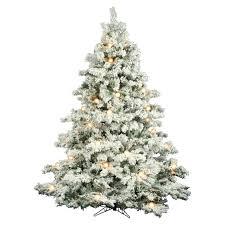 12 Ft Vickerman Flocked Alaskan Clear Prelit Christmas Tree