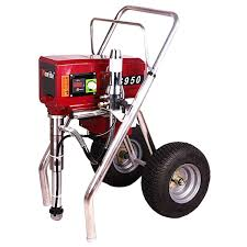 airless paint sprayer with spray 631 spray tip 2 500mm extension wands 15m hose 3335psi 3 75hp
