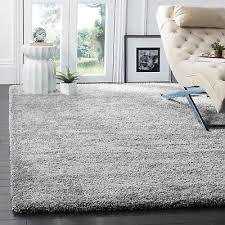 gy large xl silver grey soft runner rugs thick plain long pile bedroom small