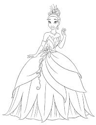 Principessa Da Di Disegno Tiana Bambini La Per Colorare 354ajqlr