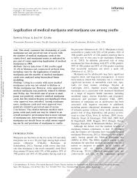 medical marijuana research paper legalization of medical marijuana and marijuana use among youths