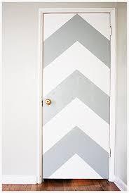 chevron pattern grey white neon door diy paint painting orange