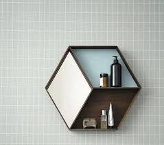 hexagon wall shelves shelf australia malaysia white