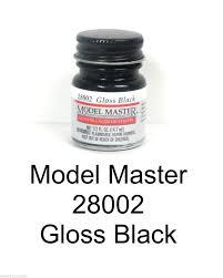 Model Master Auto Lacquer Paints Gloss Black 28002