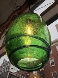 green pendant lighting. Hand Blown ( Handblown ) Recycled Green Glass Pendant Light, Large, From Bali, Lighting I