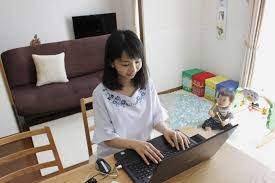 Japanese home office Entrance Firms Pitch Parttime Workathome As Way To Ease Leavetakers Return To Office Life Websenryakuinfo Firms Pitch Parttime Workathome As Way To Ease Leavetakers