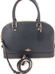 Coach F57524 Crossgrain Sierra Satchel Shoulder Handbag Black   eBay