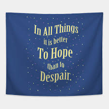 Despair Quotes Impressive In All Things It Is Better To Hope Than To Despair Quotes For Life
