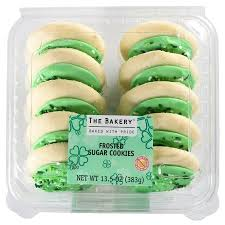 frosted sugar cookies walmart. Plain Cookies The Bakery At Walmart St Patricku0027s Frosted Sugar Cookies For