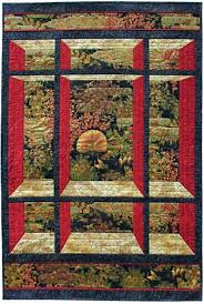72 best Quilt Center Panels images on Pinterest | Animal quilts ... & Window on the East Quilt Pattern Perfect for 24