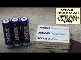 Xtar <b>3500mAh</b> 18650 <b>Li</b>-<b>ion Batteries</b> - Test - YouTube