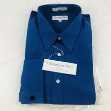 Details About Nwt Christian Dior Mens Blue Long Sleeve Button Down Dress Shirt Size 17 36 37