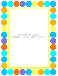 Party Borders For Invitations Fun Paper Borders Leakpapa Co