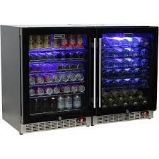 schmick beer and wine matching indoor quiet running fridge combination model sk151g combo