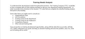 Solved: Training Needs Analysis To Understand The Developm ...