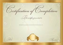 free certificate of completion template certificate of completion template vector royalty free cliparts