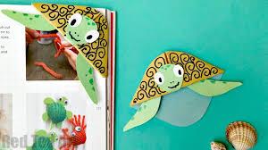easy turtle bookmark corner