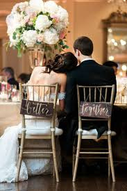 30 Awesome Wedding Sign Decor Ideas for Bride & Groom Chairs
