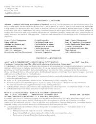 Manager Resume Example Construction Project Manager Resume Examples