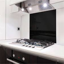 stein 900mm black glass splashback